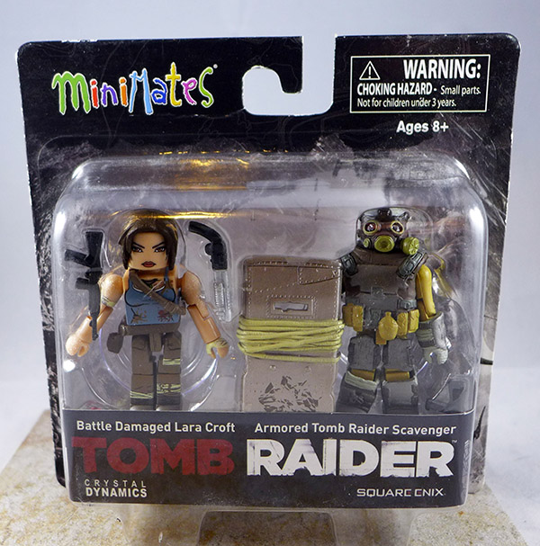 Battle Damaged Lara Croft & Armored Tomb Raider Scavenger (Tomb Raider TRU Wave)