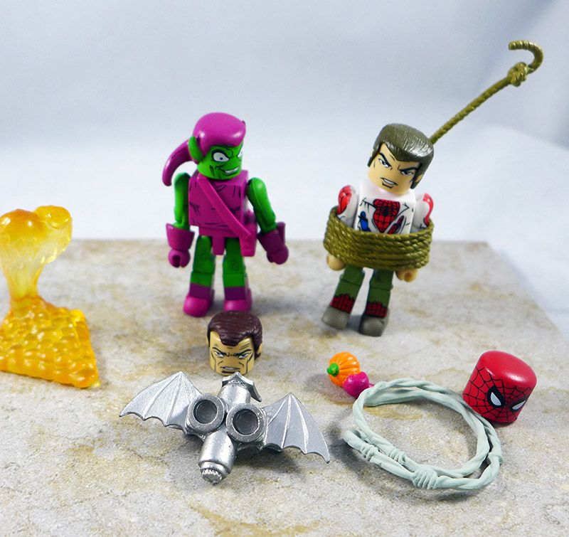 Unmasked Spider-Man & Green Goblin Loose Minimate (Wave 41)