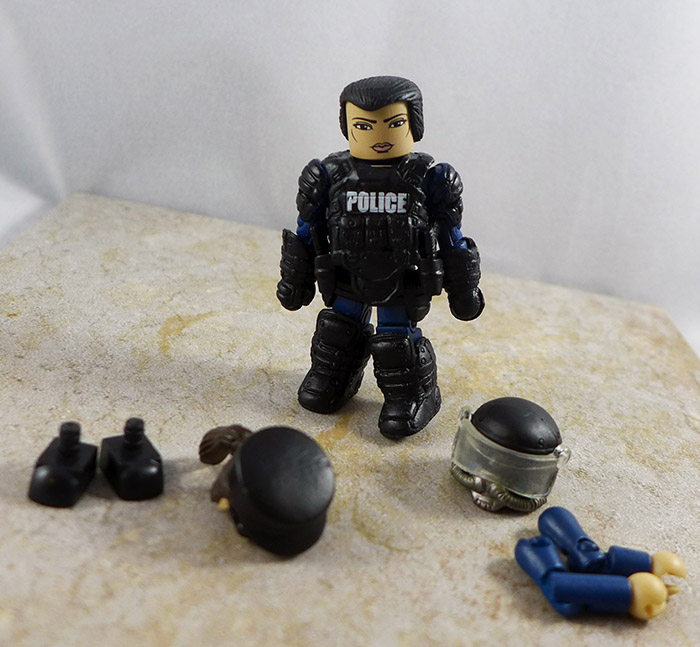 Law Enforcement Officer 3 Loose Minimate (Elite Heroes Box Set)