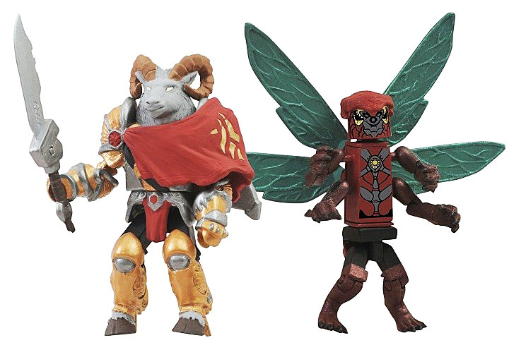 Battle Beasts Minimates Vorin & Zik SDCC Comic Con 2012 Exclusive