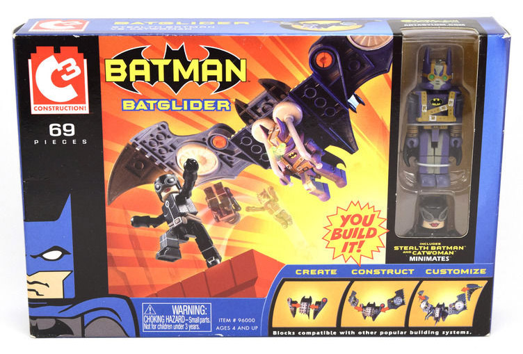 C3 Batglider with Stealth Batman & Catwoman DC Minimates