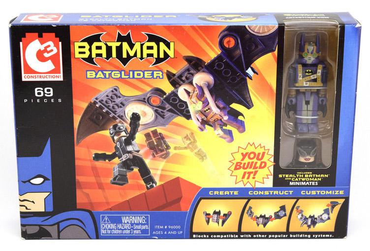 C3 Batglider with Stealth Batman & Catwoman DC Minimates