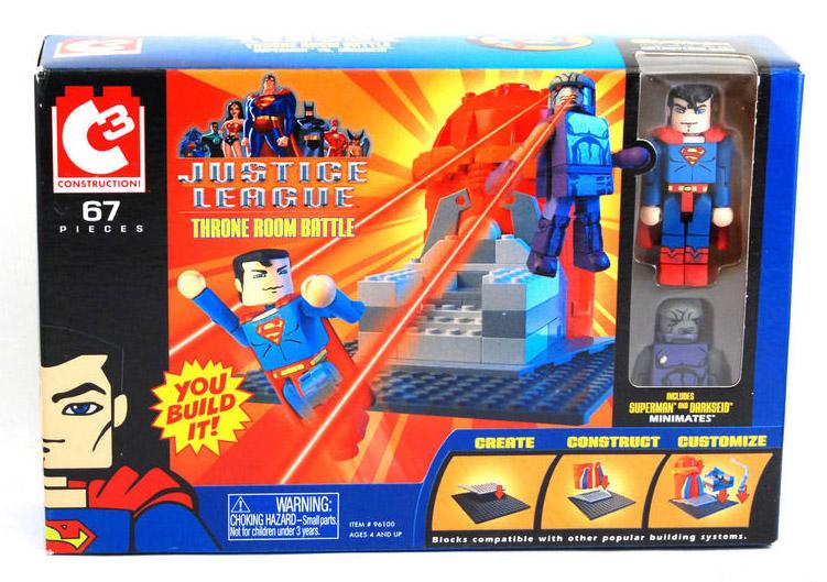 C3 Throne Room Battle with Superman & Darkseid DC Minimates