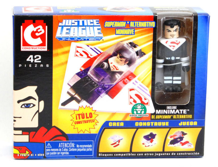 C3 Justice Lords Superman Mini Flyer with Minimate
