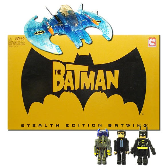 C3 Batman Stealth Batwing with Bruce Wayne & Pilot Batman Minimates SDCC Exclusive