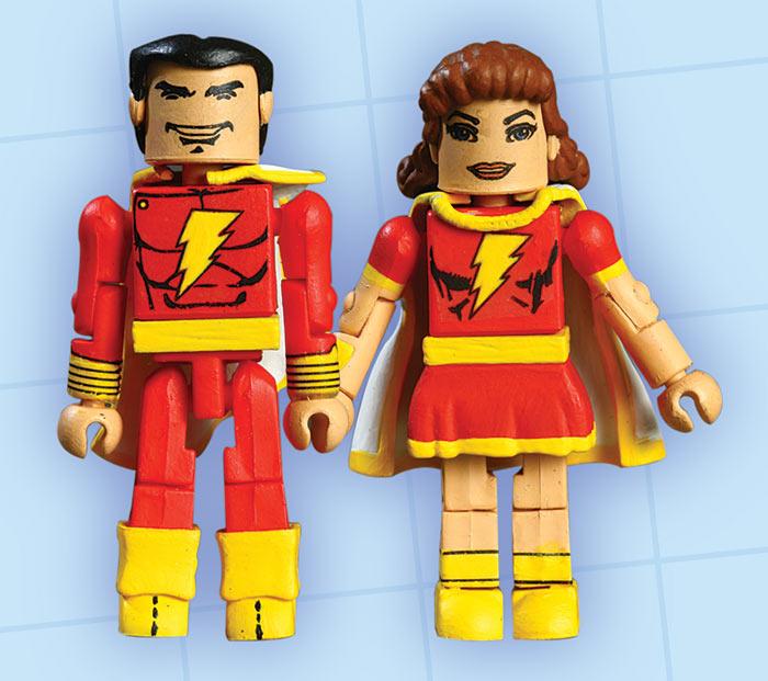 Shazam! (Captain Marvel) & Mary Marvel DC Minimates