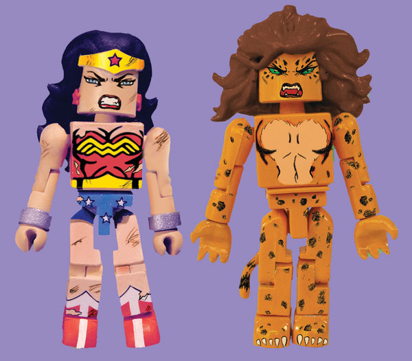 Battle-Damaged Wonder Woman & Cheetah DC Minimates