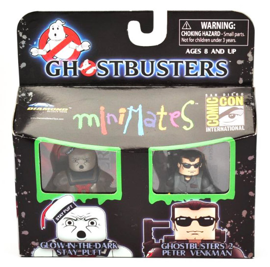 Ghostbusters Minimates Peter Venkman & Stay Puft - 2009 SDCC Exclusive