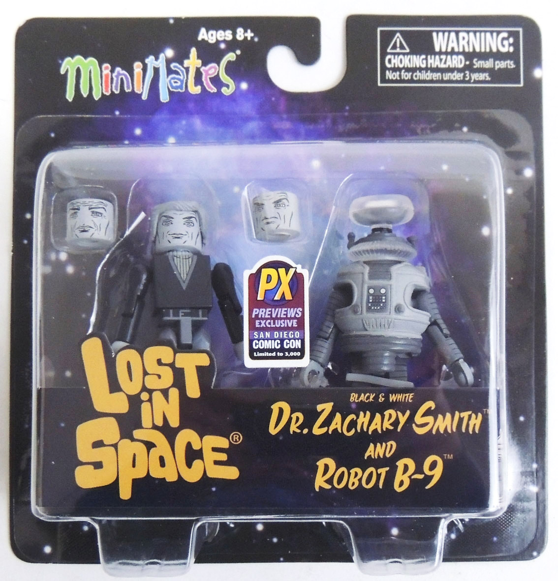 Dr.Smith & B-9 Robot Black & White Lost in Space Minimates 2013 SDCC Exclusive
