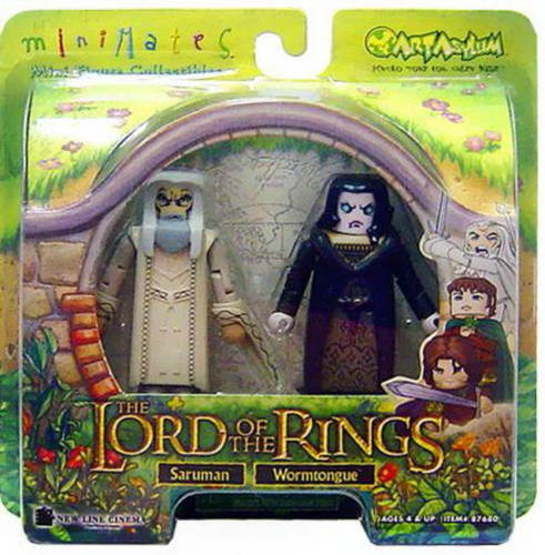 Saruman & Wormtongue Lord of the Rings Minimates