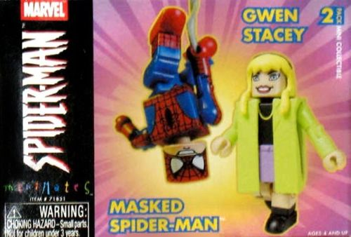 Grab-Line Spider-Man & Gwen Stacy Marvel Minimates Series 4