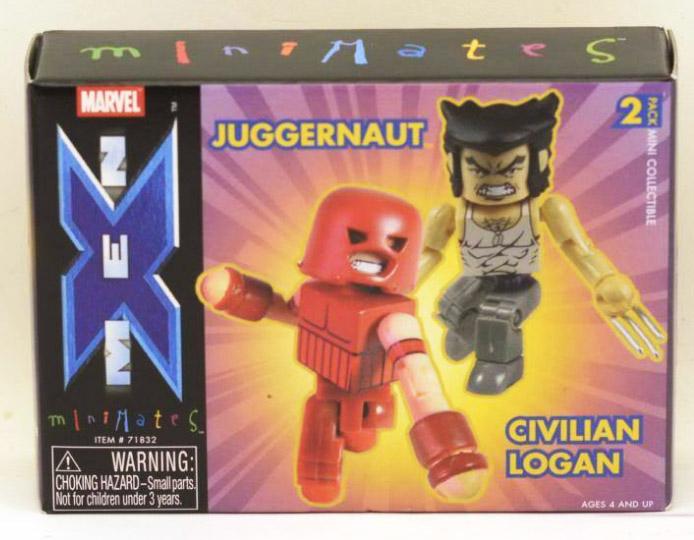 Civilian Logan & Juggernaut Marvel Minimates Series 5