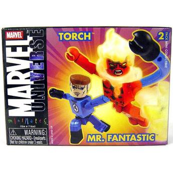 Mr. Fantastic & Human Torch Marvel Minimates Series 8