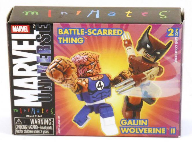 Battle-Scarred Thing & Gaijin Wolverine Marvel Minimates Series 8