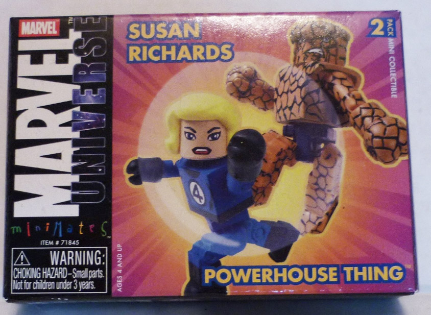 Invisible Woman & Powerhouse Thing Marvel Minimates Series 8