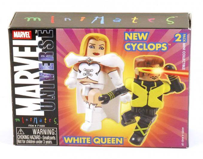 New X-Men Cyclops & White Queen Marvel Minimates Series 9