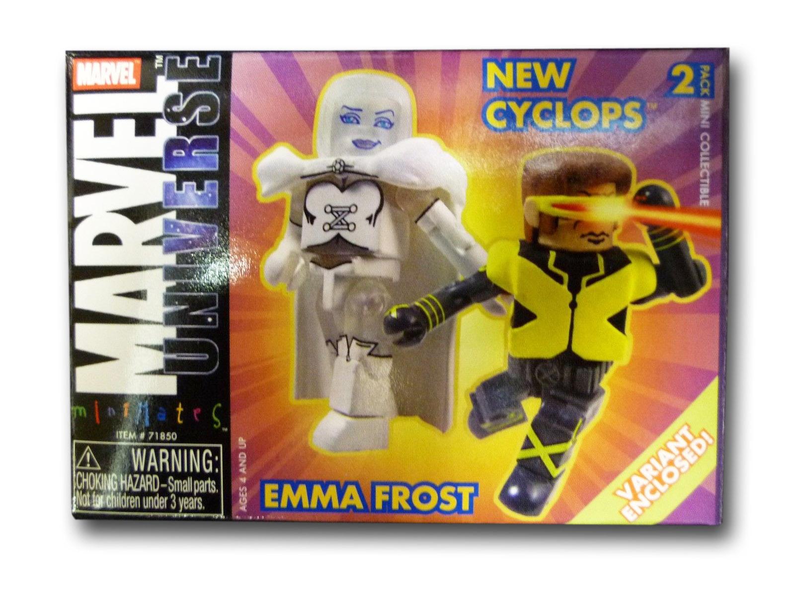 Cyclops & Diamond Emma Frost Variant Marvel Minimates Series 9