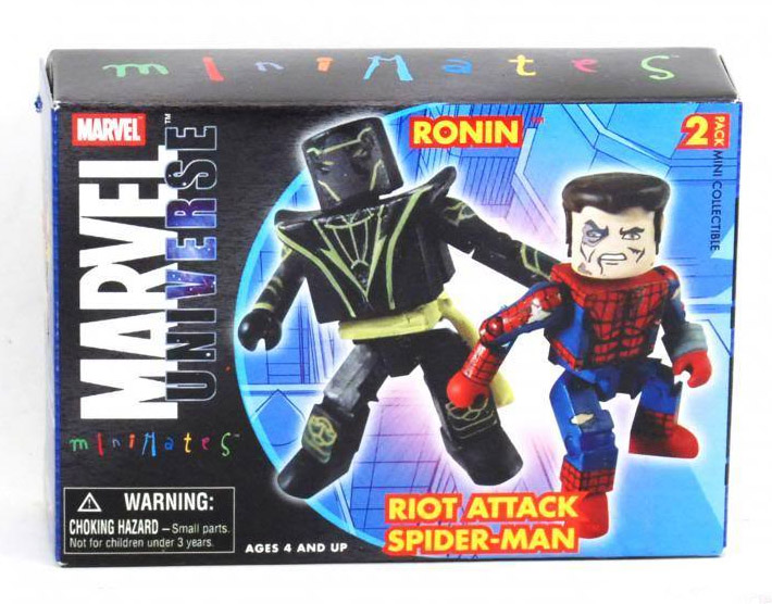 New Avengers Ronin & Riot Attack Spider-Man Marvel Minimates Series 12