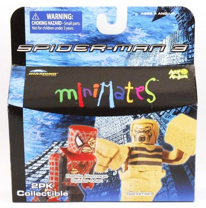 Battle Damaged Spider-Man & Sandman Marvel Minimates Series 18