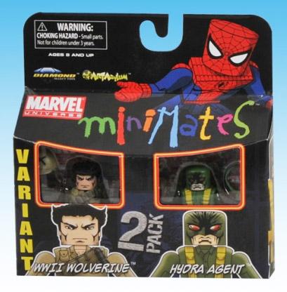 WW2 Wolverine Variant & Hyrda Agent Marvel Minimates Series 29