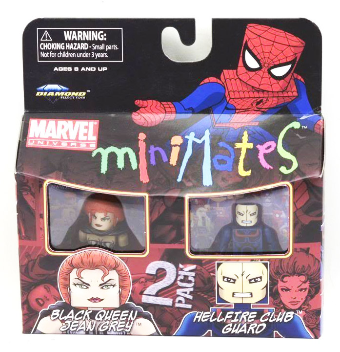 Black Queen Jean Grey & Hellfire Club Guard Marvel Minimates Series 34