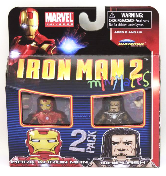 Iron Man 2 Mark IV Iron Man & Whiplash Marvel Minimates Series 35