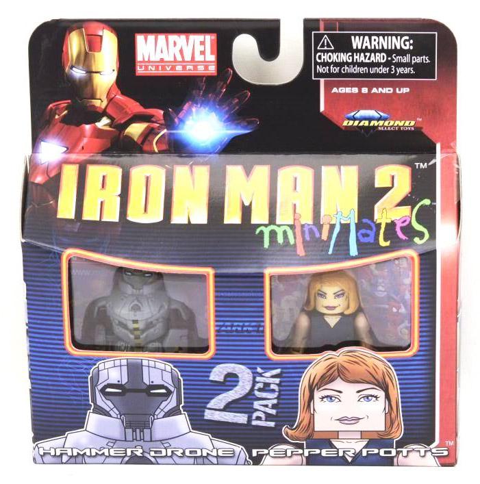 Iron Man 2 Hammer Drone & Pepper Potts Marvel Minimates Series 35
