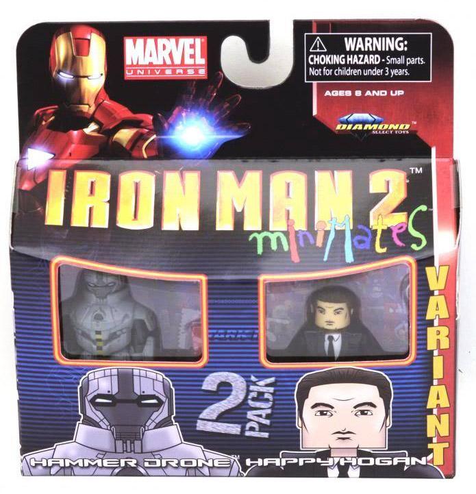 Iron Man 2 Hammer Drone & Happy Hogan Marvel Minimates Series 35