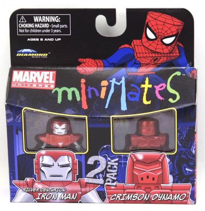 Silver Centurion Iron Man & Crimson Dynamo Marvel Minimates Series 36