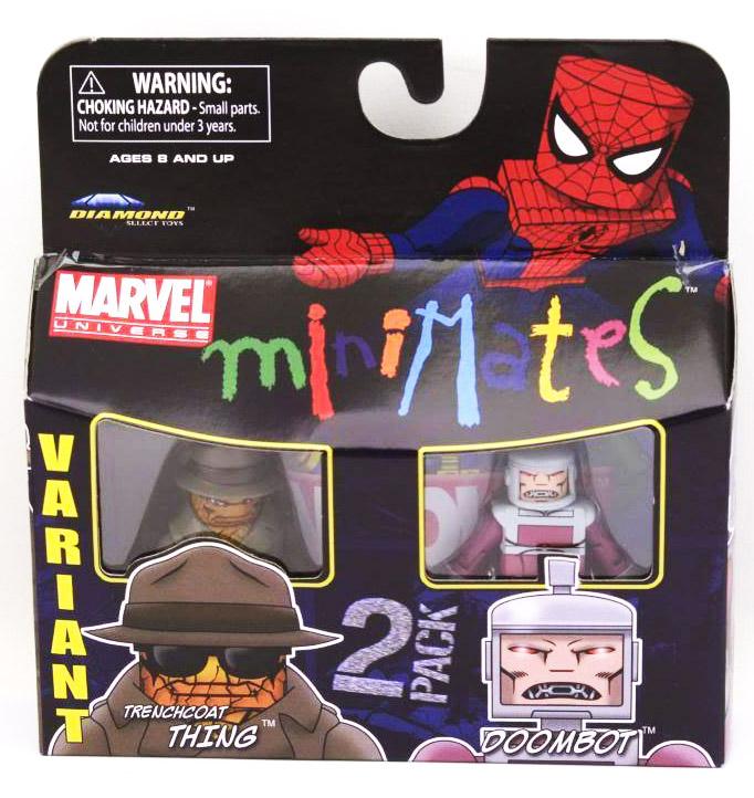 Trenchcoat Thing Variant & Doombot Marvel Minimates Series 37