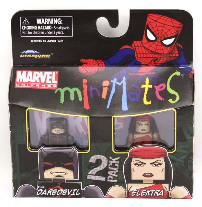 Evil Daredevil & Elektra Marvel Minimates Series 38