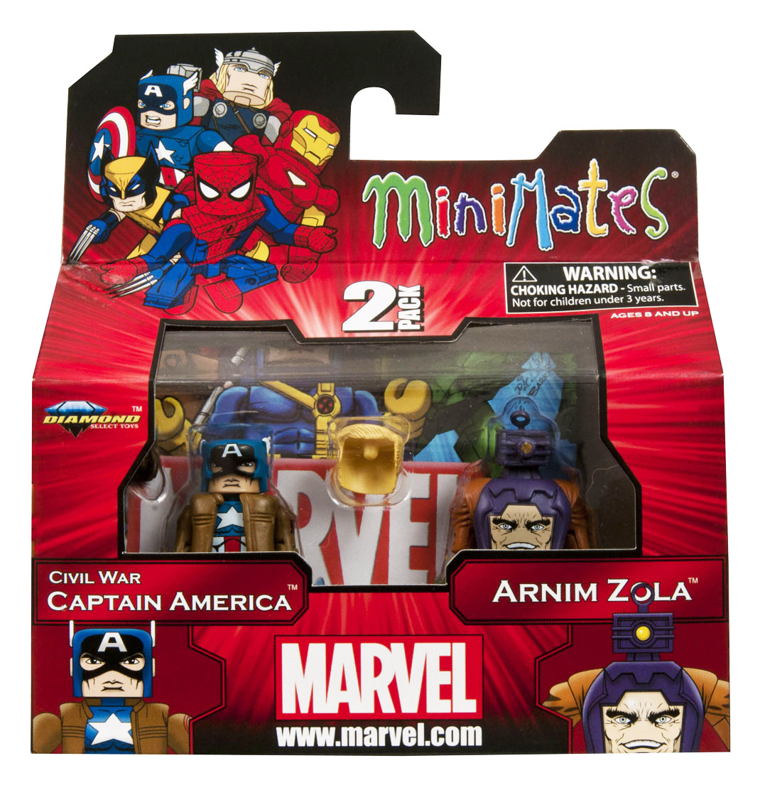 Civil War Captain America & Arnim Zola Marvel Minimates Series 42