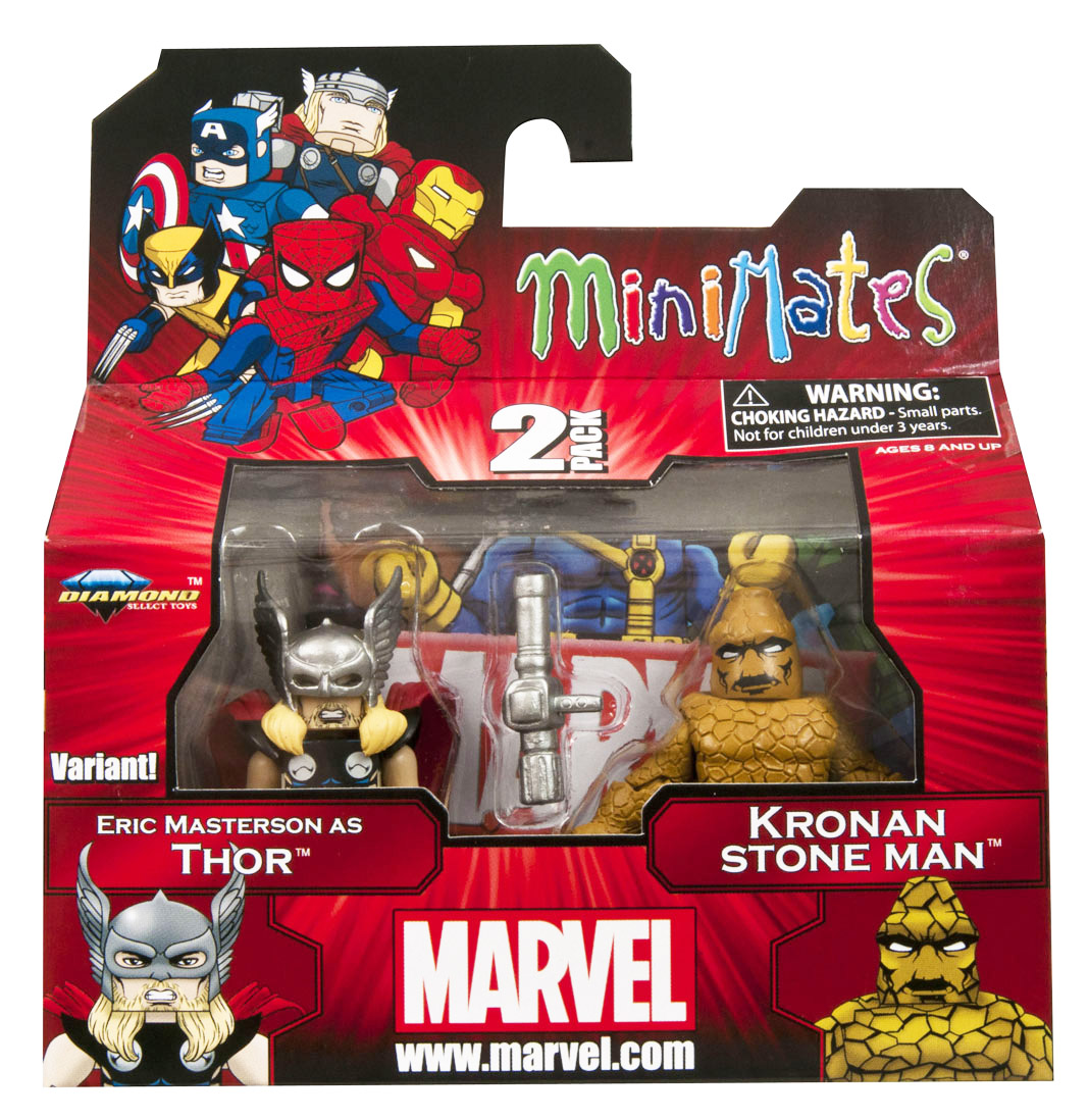 Thor (Eric Masterson) & Kronan Stone Man Marvel Minimates Series 42
