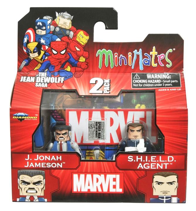 J. Jonah Jameson & S.H.I.E.L.D. Agent Marvel Minimates Series 43