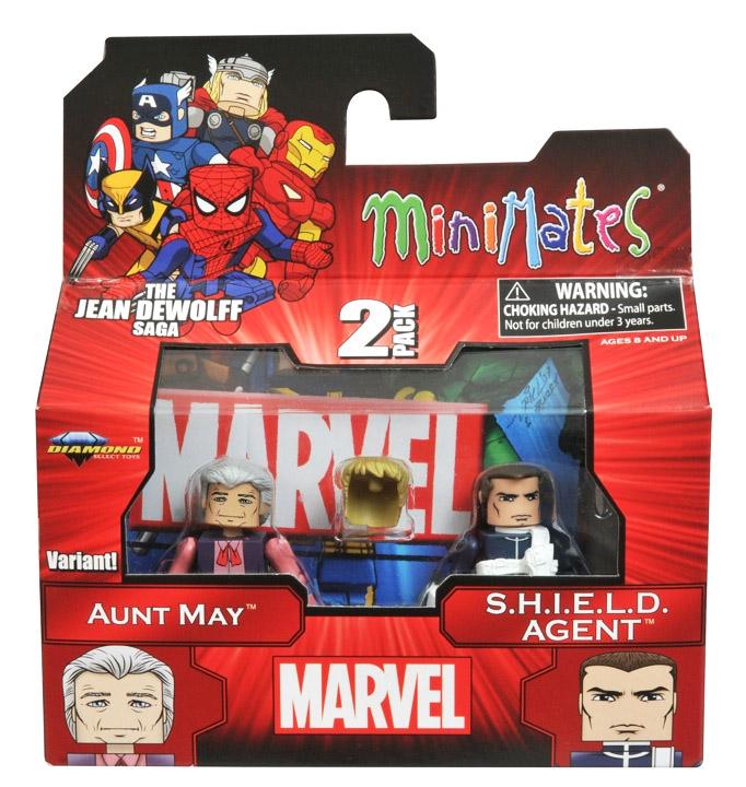 Aunt May & S.H.I.E.L.D. Agent Marvel Minimates Series 43