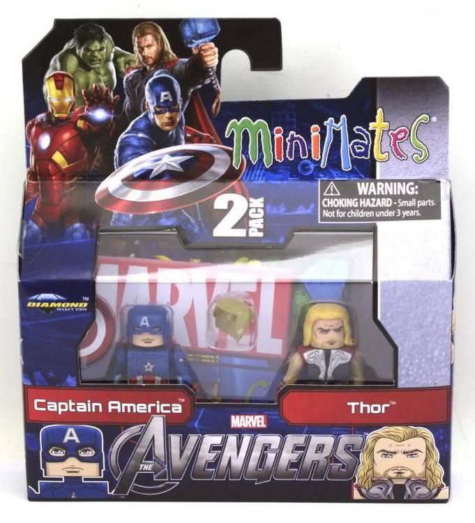 Avengers Captain America & Thor Marvel Minimates Series 45