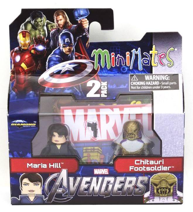 Avengers Maria Hill & Chitauri Soldier Marvel Minimates Series 45