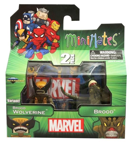 Brood Wolverine Variant & Brood Marvel Minimates Series 47