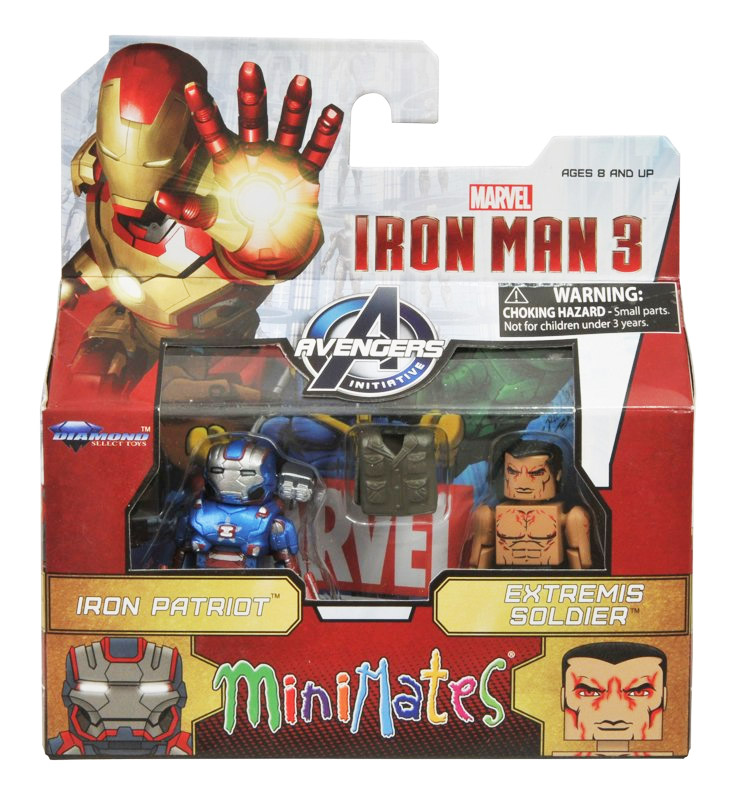 Iron Patriot & Extremis Soldier Marvel Minimates Series 49