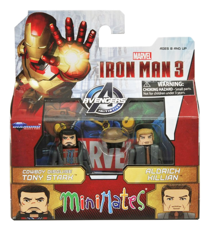 Cowboy Tony Stark & Aldrich Killian Marvel Minimates Series 49