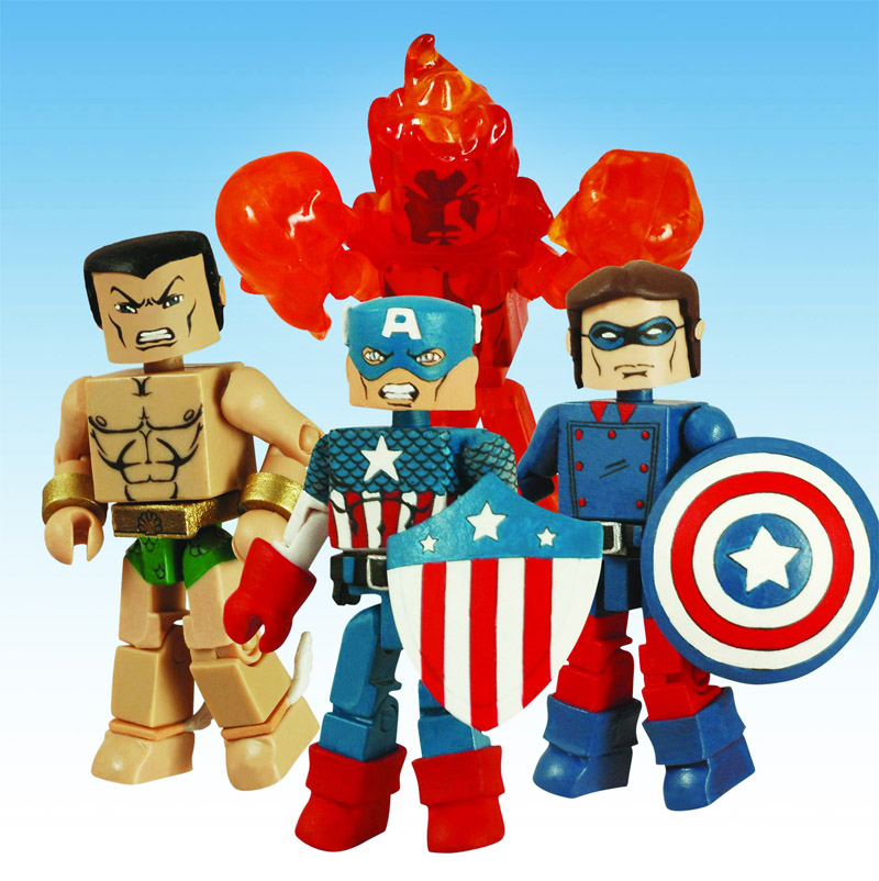 Invaders 2008 SDCC Exclusive Marvel Minimates Box Set