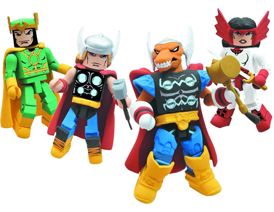 The Mighty Thor Stormbreaker 2011 SDCC Exclusive Marvel Minimates Box Set