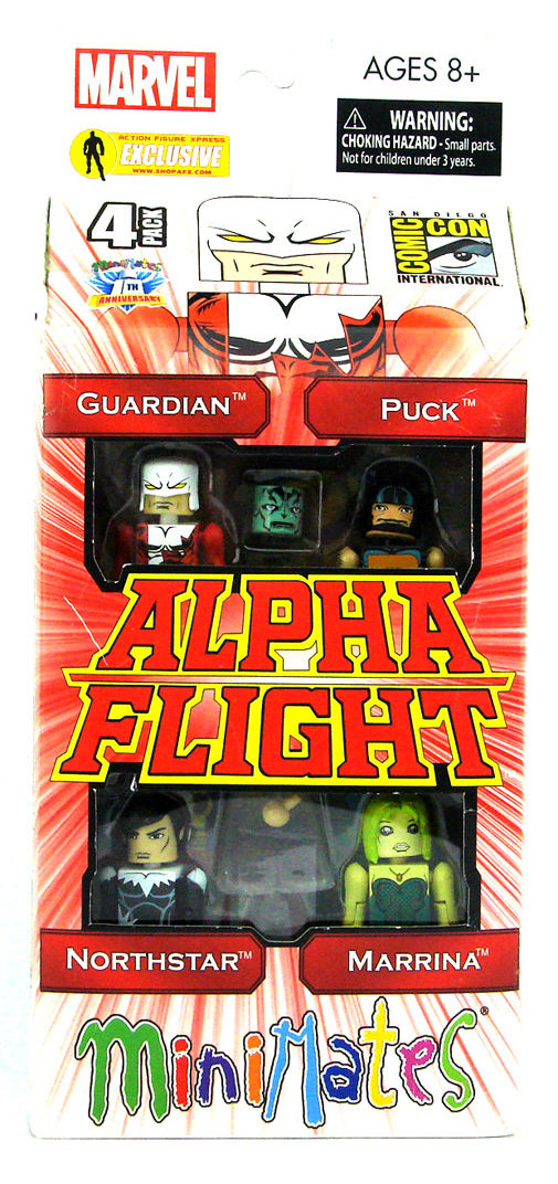 Alpha Flight Series 1 2012 SDCC Exclusive Marvel Minimates Box Set