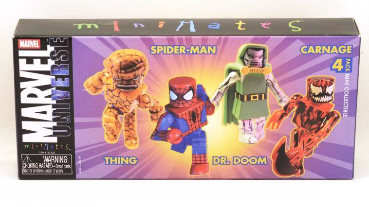 TRU Exclusive Marvel Minimates 4-Pack (Doctor Doom, Carnage, Spider-Man, Thing)