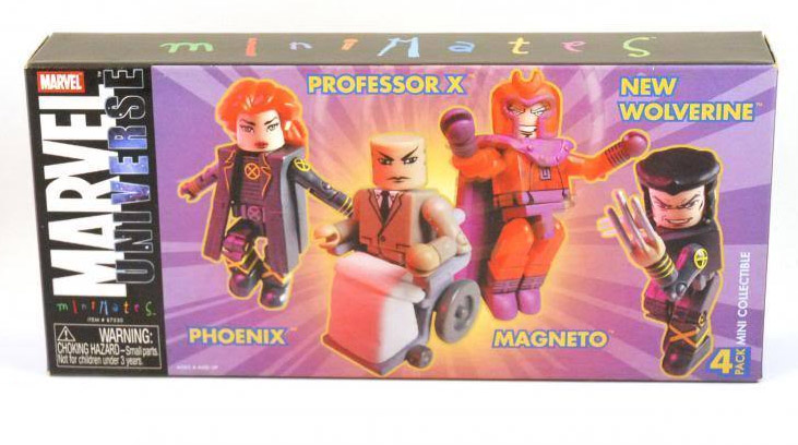 TRU Exclusive Marvel Minimates 4-Pack (Phoenix, Professor X, Magneto, New Wolverine)