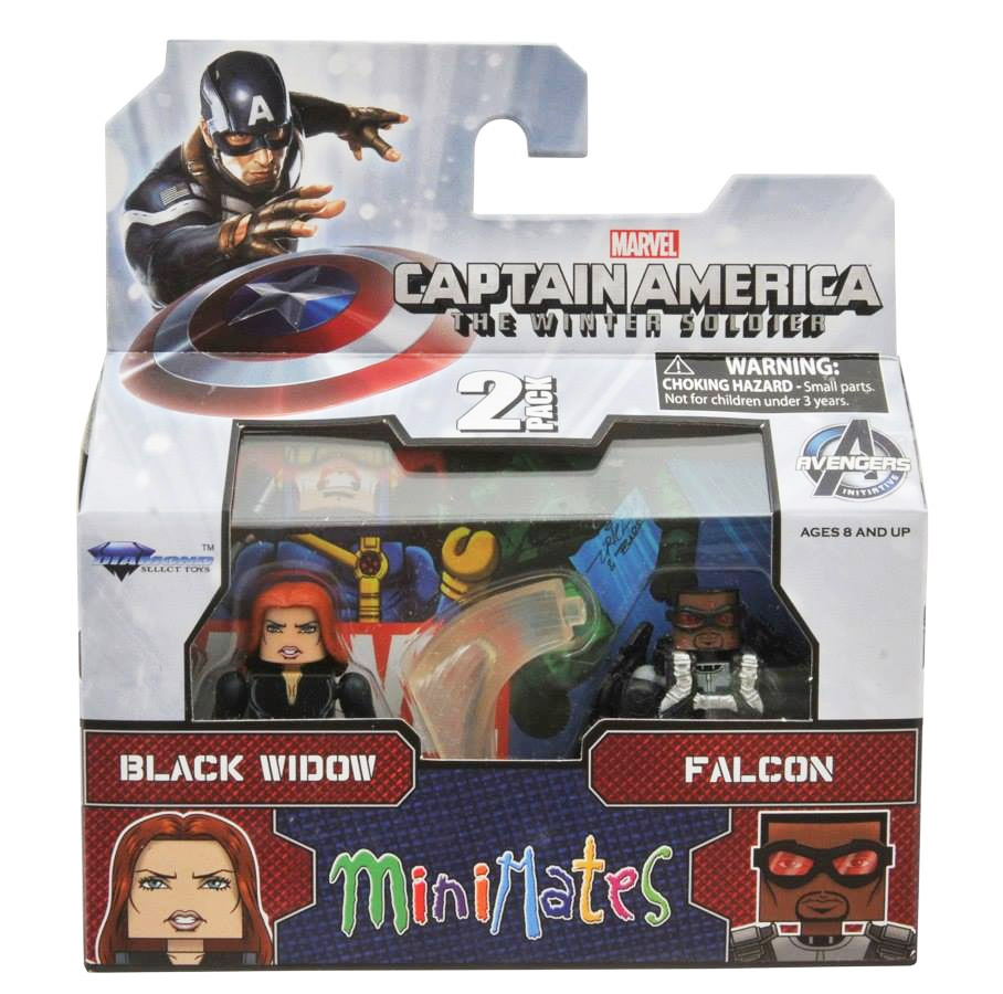 Black Widow & Falcon Marvel Minimates Series 55