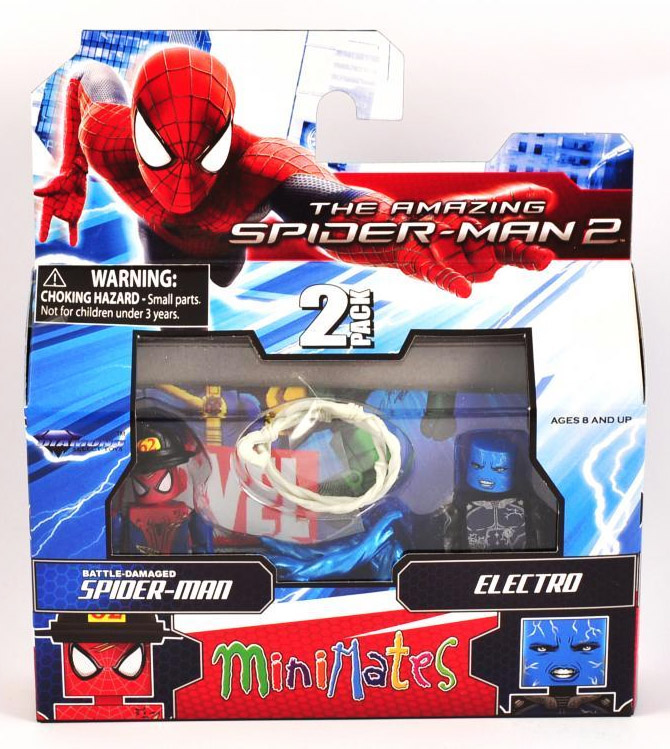 Electro & Battle Damaged Spider-Man Marvel Minimates Series 56