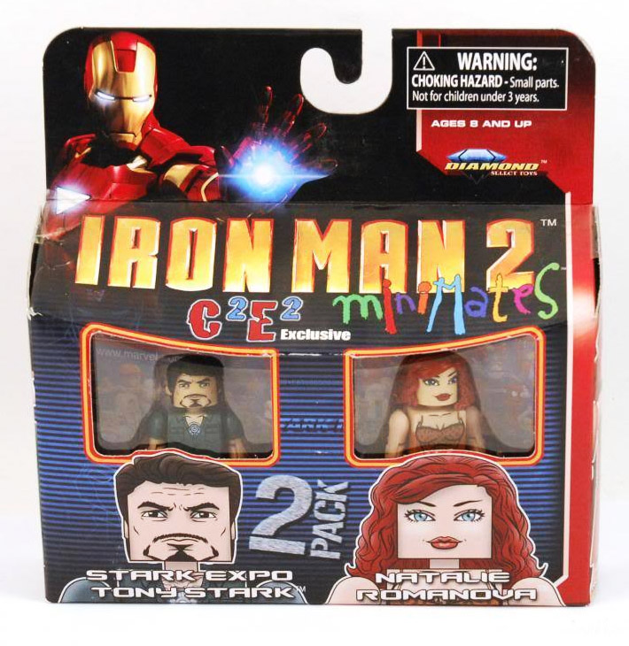 Iron Man 2 Stark Expo Tony & Natalie C2E2 Marvel Minimates Exclusive