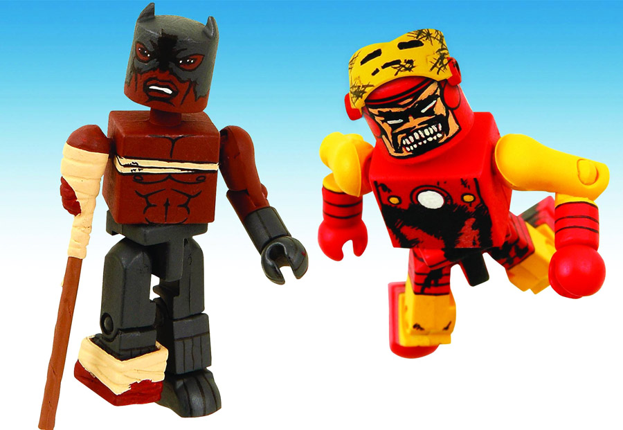 Zombie Iron Man & Black Panther Marvel Minimates Exclusive