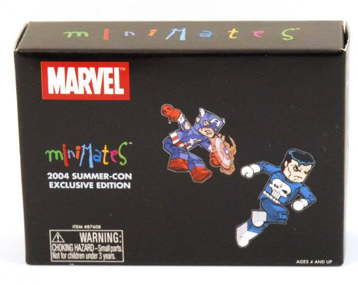 Punisher & Battle Damaged Captain 2004 SDCC Marvel Minimates Exclusive